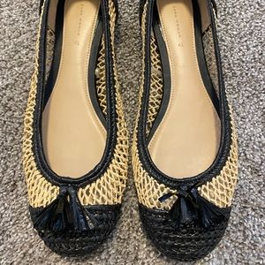 Zara Black/Tan Loafers! So cute!